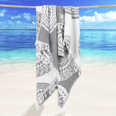 Badillo Pestemal Beach Towel Color: Gray