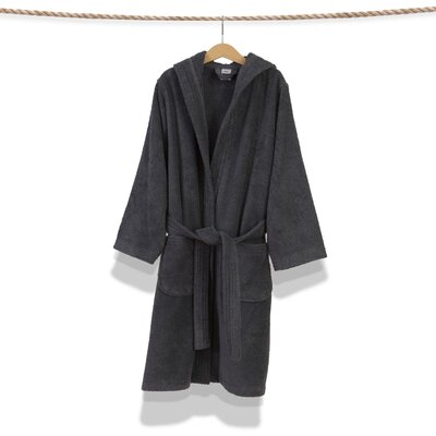 Bernardini Hooded Unisex Terry Bathrobe Size: Medium