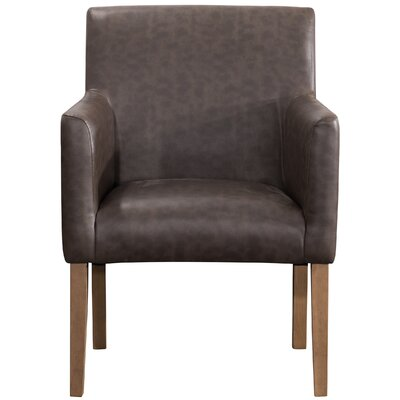 Pecoraro Upholstered Dining Chair Upholstery: Brown