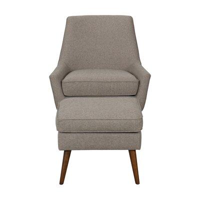 Ealy Modern Armchair with Ottoman