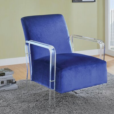 Isley Distinctive Add-on Armchair Upholstery: Dark Blue