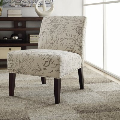 Icenhour Ultra Modern Side Chair Upholstery: White/Gray
