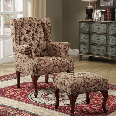 Edlin Classic Armchair and Ottoman
