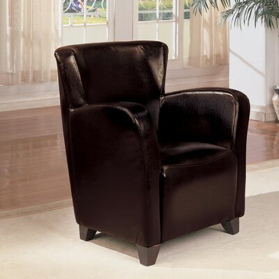 Gutzman Opulently Styled Armchair Upholstery: Black