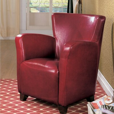 Gutzman Opulently Styled Armchair Upholstery: Red