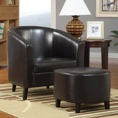 Hysell Well Finished Barrel Chair and Ottoman