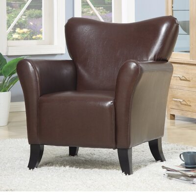 Tunbridge Modernly Styled Armchair Upholstery: Black