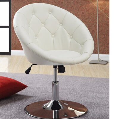 Ivey Round Tufted Papasan Chair Upholstery: White