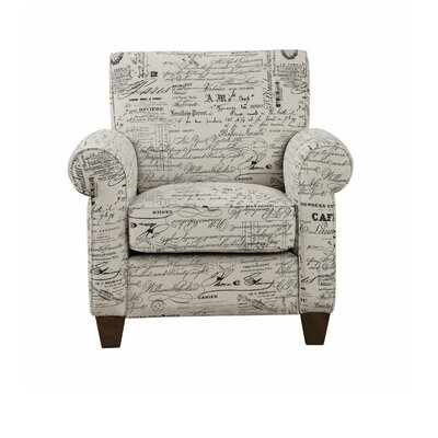 Avon Comfortable Text Printed Armchair