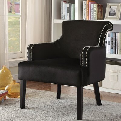 Ald Manifestly Dramatic Armchair Upholstery: Black