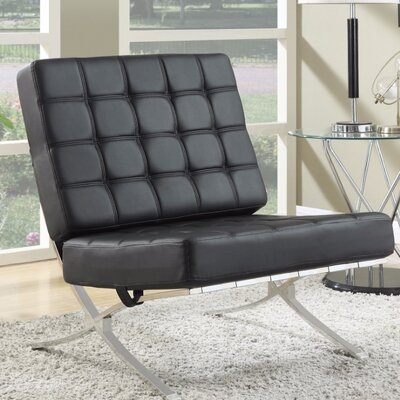 Loizzo Comfortably Classy Side Chair Upholstery: Black
