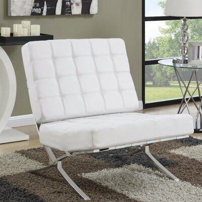 Loizzo Comfortably Classy Side Chair Upholstery: White