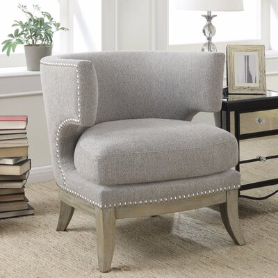 Shepherds Luxuriously Styled Barrel Chair Upholstery: Gray
