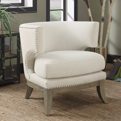 Shepherds Luxuriously Styled Barrel Chair Upholstery: White