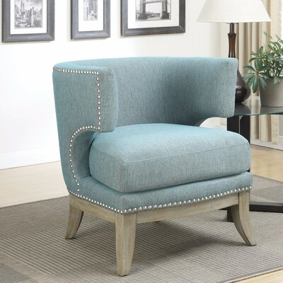 Shepherds Luxuriously Styled Barrel Chair Upholstery: Blue