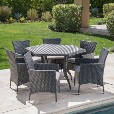 Image of 7 Piece Dining Set with Cushion