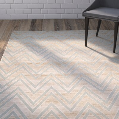 Scharff Taupe/Aqua Area Rug Rug Size: Rectangle 53 x 76