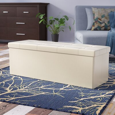 Morales Storage Ottoman Upholstery: Beige
