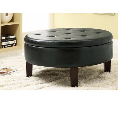 Damboise Tufted Leather Storage Ottoman