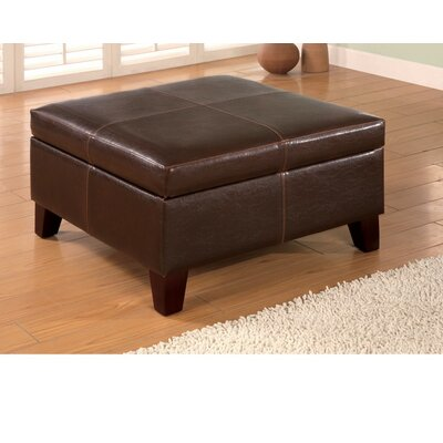 Ignacio Square Leather Storage Ottoman
