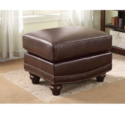 Kerley Nice looking Leather Ottoman