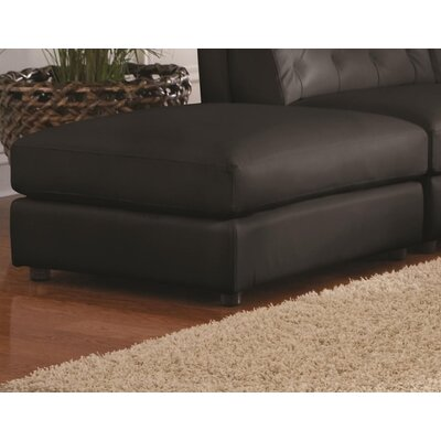 Keshawn Storage Leather Ottoman