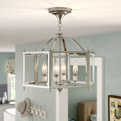 Claysburg 4-Light Semi Flush Mount Finish: Brushed Nickel