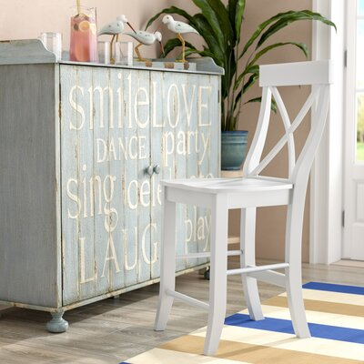 Downey 24 Bar Stool Color: Linen White