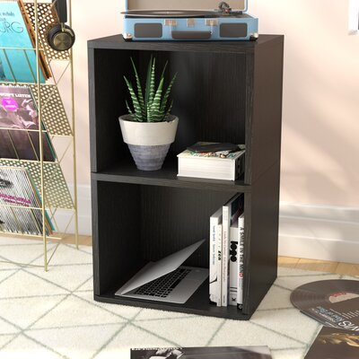 Bellwood Vinyl Multimedia Record Storage Cube Unit Color: Black