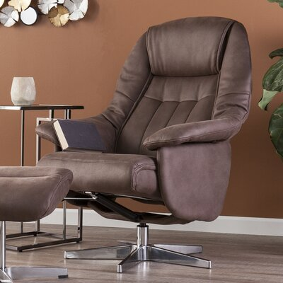 Betty Manual Swivel Recliner with Ottoman