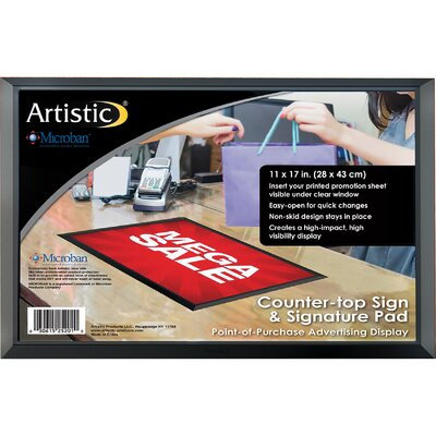 ADHere Countertop Sign/Signature Pad with Microban Size: 11 H x 17 W x 0.25 D