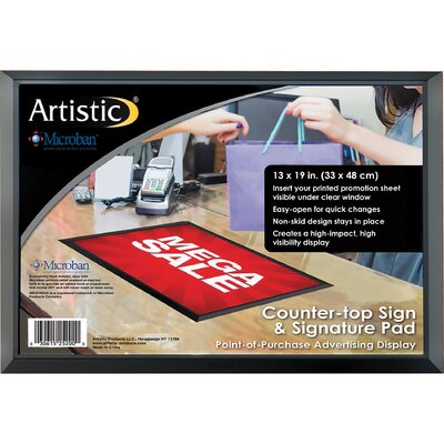 ADHere Countertop Sign/Signature Pad with Microban Size: 13 H x 19 W x 0.25 D