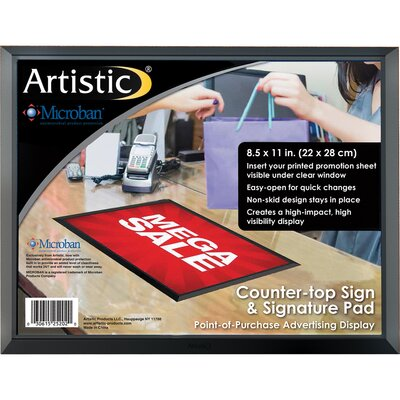 ADHere Countertop Sign/Signature Pad with Microban Size: 8.5 H x 11 W x 0.25 D