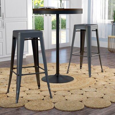 Meriden 30 Bar Stool Upholstery: Matte Black