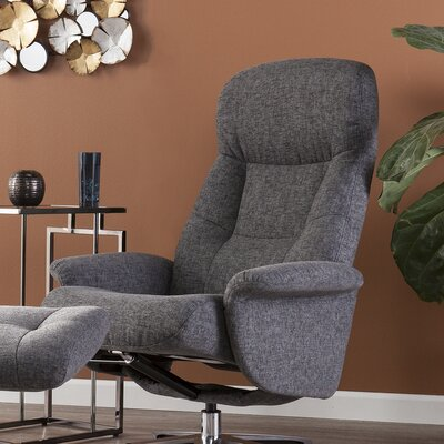 Ignatius Manual Swivel Recliner with Ottoman