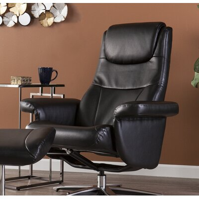 Portia Manual Swivel Recliner with Ottoman