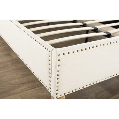 Djibril Platform Bed Size: Full, Color: Cotton