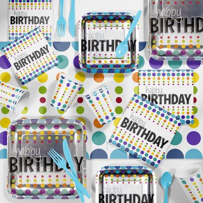 Birthday Pop Party Paper/Plastic Supplies Kit DTC5834C2A