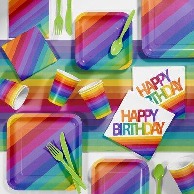 Rainbow Birthday Party Paper/Plastic Supplies Kit DTC5972C2A