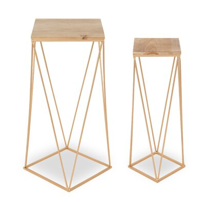 Lacasse Metal Accent 2 Piece Nesting Tables