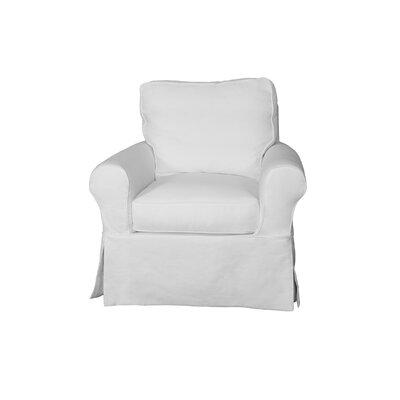 Telluride Swivel T-Cushion Armchair Slipcover Upholstery: White