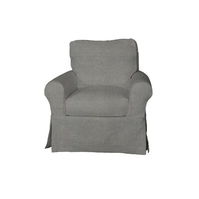 Telluride Swivel T-Cushion Armchair Slipcover Upholstery: Gray