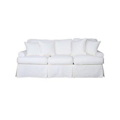 Telluride T-Cushion Sofa Slipcover Upholstery: White