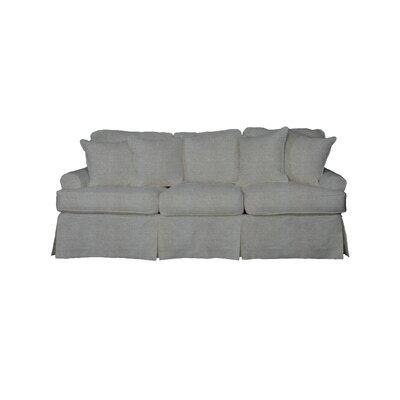Telluride T-Cushion Sofa Slipcover Upholstery: Gray