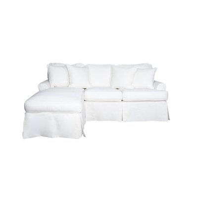 Telluride T-Cushion Sofa Slipcover Upholstery: White