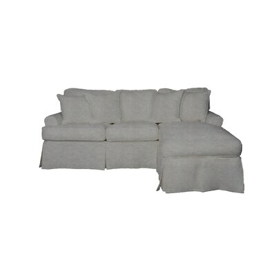 Telluride T-Cushion Sofa Slipcover Upholstery: Gray