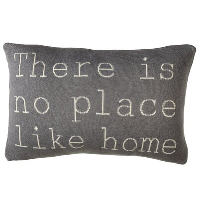 Adkins There Is No Place Like Home Cotton Lumbar Pillow