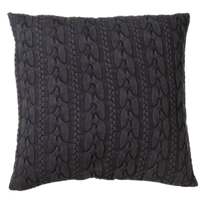 Albinson Oversized Cable Knit Acid Wash Cotton Floor Pillow