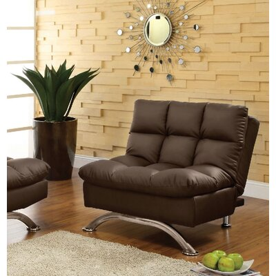 Jorgensen Futon Chair Upholstery: Dark Brown