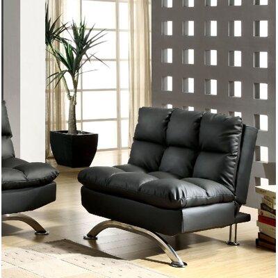 Jorgensen Futon Chair Upholstery: Black